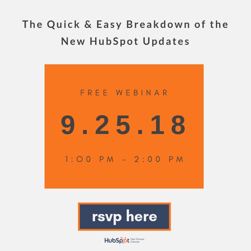 Q3 HUG Webinar - HubSpot Product Updates